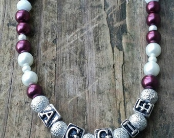 Aggie Spirit Pearl Necklace