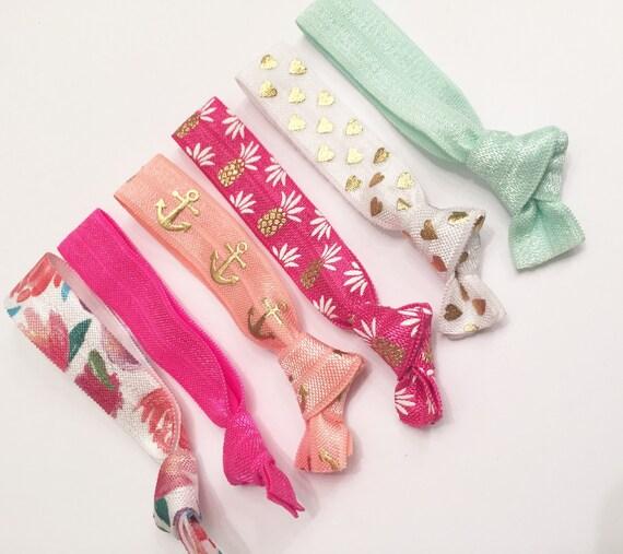 California beach tie set// hair ties, elastic hair ties, hairtie set, summer hair ties, summer, hair accessories