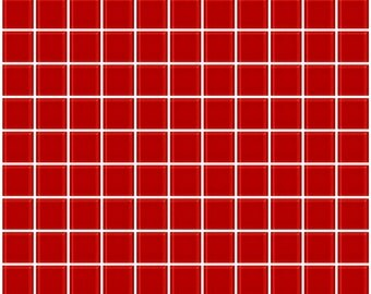 1-inch deep tomato red glass tile