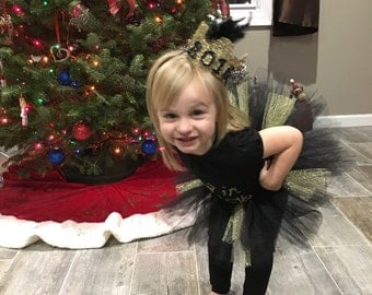 "Black and gold ""lace"" tutu"