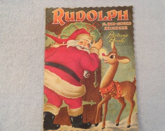 1951 Rudolph The Red-Nosed Reindeer Picture Book By Robert May