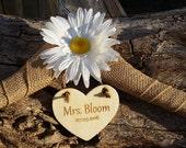 Custom Bride Name Hanger, Daisy Bridal Shower Gift