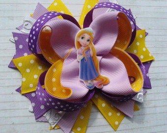 Rapunzel hair ribbon bow Tangled Rapunzel hair clip Birthday gift Kids party favour Princess accessories  Valentines day gift for her