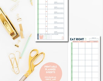 Fitness PRINTABLE Planner Inserts. A5 Size