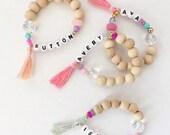 Bitty name bracelets