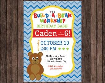 Build-A-Bear Birthday Party Invitation