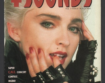 Madonna Vintage Hot Sounds Magazine : Vol 1 No 1 1st Issue 1987 Ex+/NrMt White Pages High Grade Rare