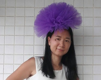 Hand-crafted tulle fascinator hat  # HWW16002P
