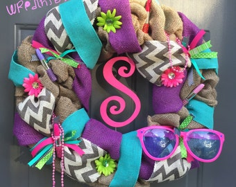 Colorful/Bright/Girly Wreath