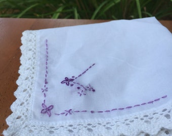 PDF Pattern for Embroidered Handkerchief: Initial L