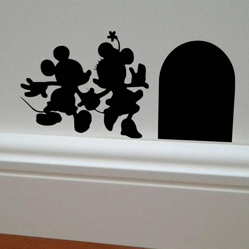 minnie mickey mouse wall decal minnie mouse decal. Black Bedroom Furniture Sets. Home Design Ideas