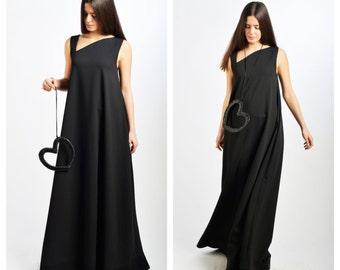 Maxi Dress/ Black Dress / Extravagant Dress/ Caftan / Long Dress by Fraktura D0010