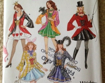 Simplicity, 3685, Pattern, Costumes, Adults, Ladies, Queen of Hearts, Ring Leader, Alice In wonderland, Size 14, 16, 18, 20