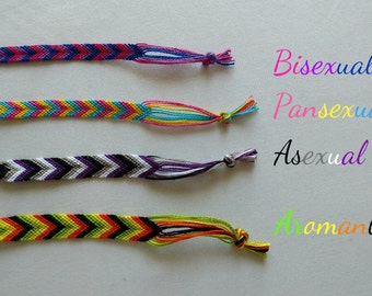 ON SALE: Larger Sexuality Bracelets // Bisexual, Pansexual, Asexual, Aromantic, Demisexual, Abrosexual