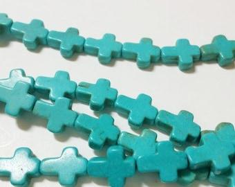 38 Cross beads howlite, 360a