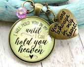 I Will Hold You In My Heart Until I Can Hold You in Heaven Sympathy Jewelry Remembrance Memory Necklace Loss of Loved One Gift