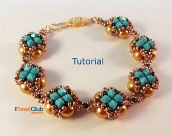 Right Angle Weave Bracelet Tutorial - Netting Stitch Bracelet Beading Pattern - Beading Tutorial - Beadweaving Tutorial - Bejeweled Bracelet