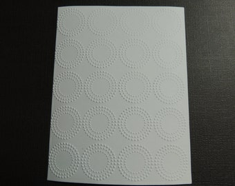 Dainty #2 Embossed Cardstock, Embossed Sheets, Embossed Card Fronts