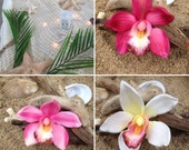 Orchid Flower Hair Clip-Weddings, Tropical Hair Clip, Bridal Hair Clip, ORCHID HAIR FLOWER , Beach Destination Weddings, Tropical Flowers,