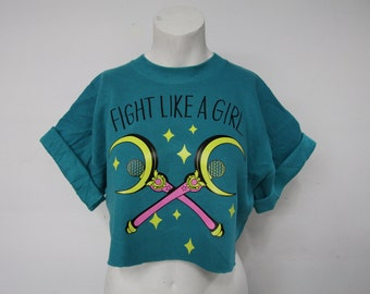 Recycled Fight Like A Girl Cop Top