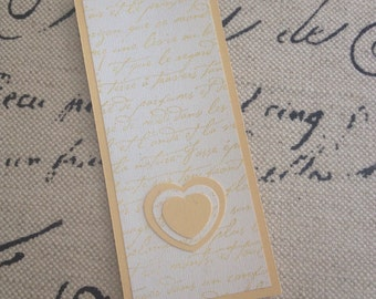 SALE! Yellow French Script Bookmark