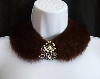 Altered Fur Collar, Real Fur, Vintage Collar, Elegant Collar