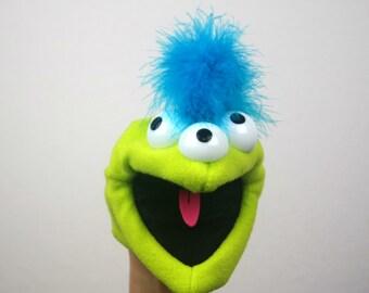 Hand Puppet/Puppet for Child/Monster Puppet/Alien Puppet/Handmade Puppet/Educational Toy/Interchangeable Parts Puppet/Pip Pop Puppets