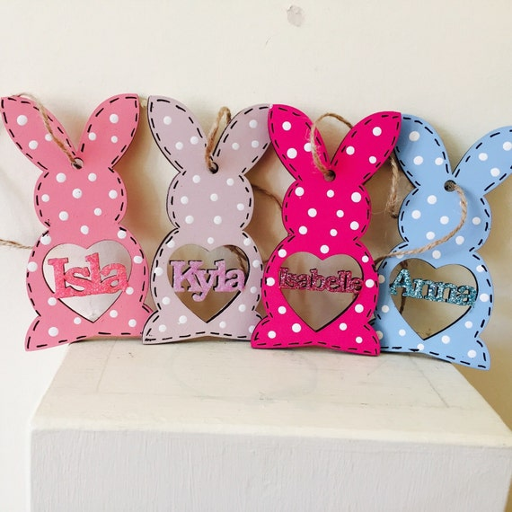 Personalised wooden bunny easter bunny personalised gift like this item negle Choice Image