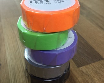 NEW MT Washi Masking Tapes simple 5 Colors Set F/S Japan Imoprt