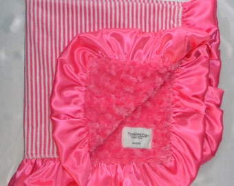 Candy Sripes Blanket, Baby/Toddler blankets, Minky blankets.