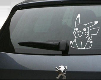 Pikachu Decal Etsy - Create car decalsanime decal etsy