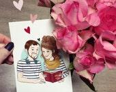 Couple portrait comission - Illustrated print