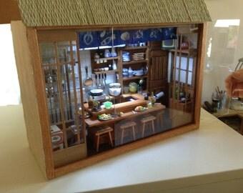 Simon J. miniature Japanese restaurant room box