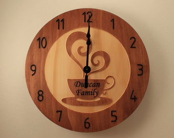 Custom kitchen clock