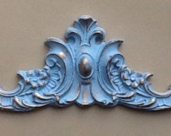 Decorative pediment moulding shabby chic embellishment painted