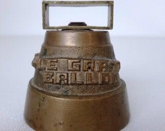 "vintage small french cast iron bell ""Le Grand Ballon"", french mountain souvenir"