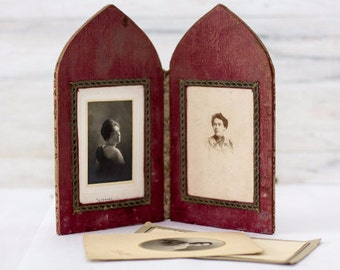 French Victorian Two Fold Photo Frame