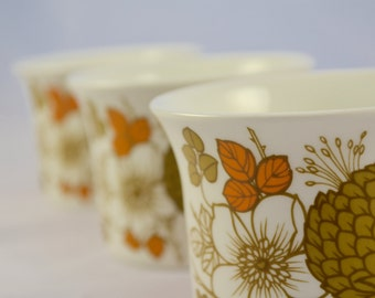 Midwinter 'Countryside' 1970s teacup. olive and orange hedgerow pattern
