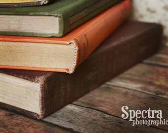 Old Books with a Vintage Feel Fine Art Photo Print