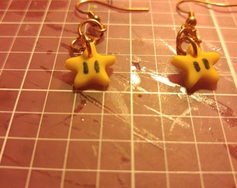 Mario 64 Star Earrings