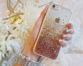 rose gold sweet heart - glitter acrylic iphone 7 case, iphone 7 plus case ,iphone 6s case, iphone 6 case, iphone 6plus case, iphone 5/5s /SE