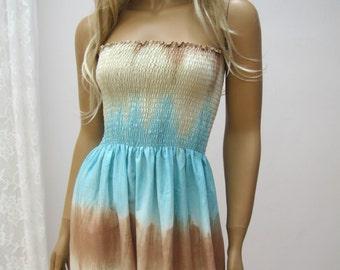 Ethnic, hippie MAXI TUBE strapless dress, Folk, embroidered, boho