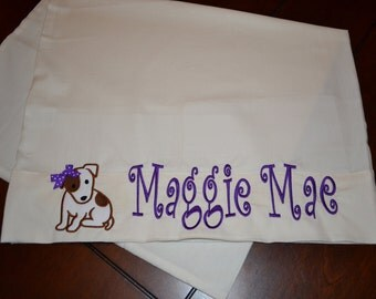 Personalized Puppy Dog Pillowcase