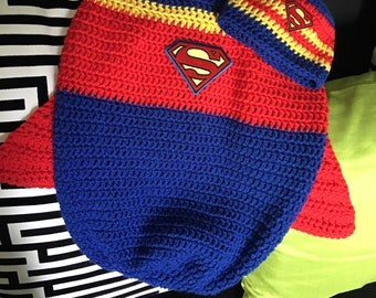 Superman Inspired Cocoon Crochet Set