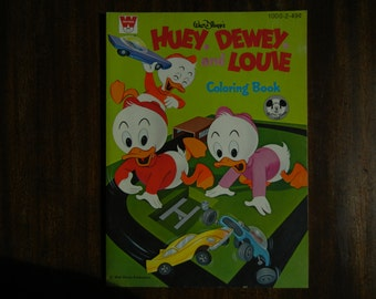 Walt Disney's Huey, Dewey and Louie Coloring Book ~ 1970 ~ New