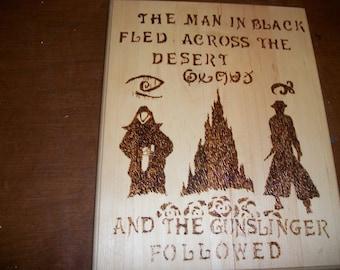 Handmade Gunslinger Woodburning