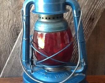 Vintage lantern, Dietz Red and Blue