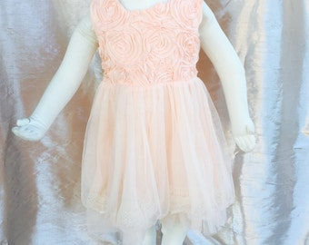 Pink  Rossette dress