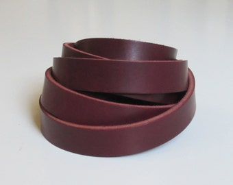 "1"" or 1/2"" LATIGO Leather Strapping, 11-12 oz Premium Leather Blank Strip Strap"