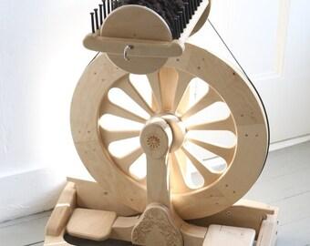 Spinolution Mach III with 8 oz Flyer + 3 Bobbins - Spinning Wheel - Ergonomic Wheel - Modular Wheel - Free US Shipping